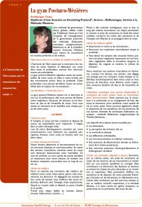 article equilibr energie gym posturo-mezieres