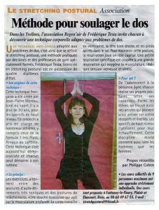 stretching-postural - soulager le dos - presse yvelines