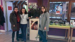 Christiane FORGE, Frédérique TESTA et Camille FORGE (organisatrice de la manifestation)